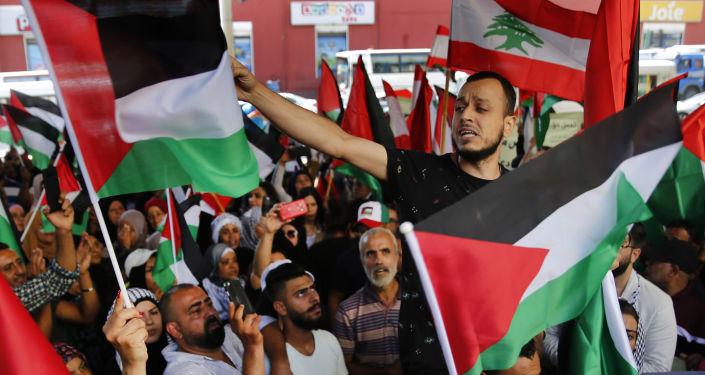 مظاهرات فلسطينية في لبنان