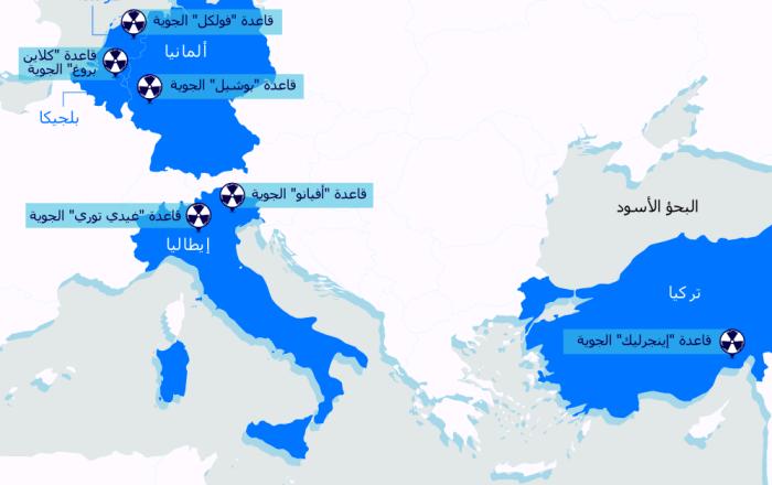 إنفوجرافيك - الأسلحة النووية الأمريكية في أوروبا