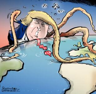 ظريف يذكّر ترامب بموقع أمريكا على خريطة العالم