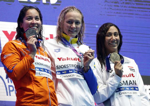 بطلات العالم في السباحة 50 مترا، في كوريا الجنوبية