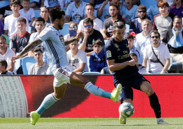 غاريث بيل خلال مشاركته بمباراة ريال مدريد وسلتا فيغو بالدوري الإسباني