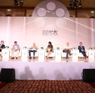 مؤسسي مهرجان الجونة السينمائي خلال مؤتمر الإعلان عن تفاصيل دورته الثالثة لعام 2019