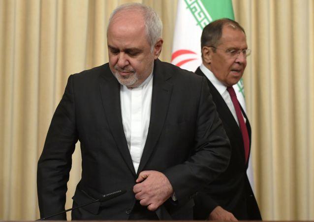 مؤتمر صحفي لوزير الخارجية الروسي سيرغي لافروف ونظيره الإيراني محمد جواد ظريف، 2 سبتمبر/ أيلول 2019