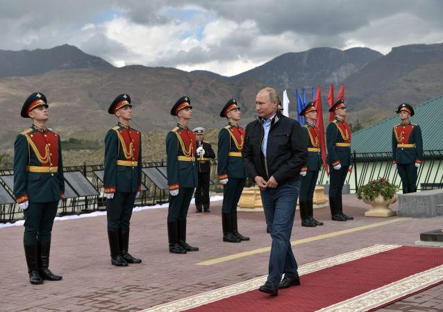 الرئيس الروسي فلاديمير بوتين في داغستان
