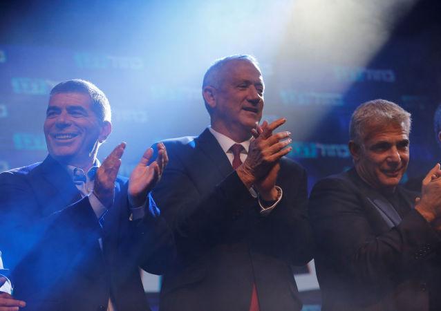 زعيم تحالف أزرق أبيض الإسرائيلي، بيني غانتس، انتخابات، إسرائيل 18 سبتمبر 2019