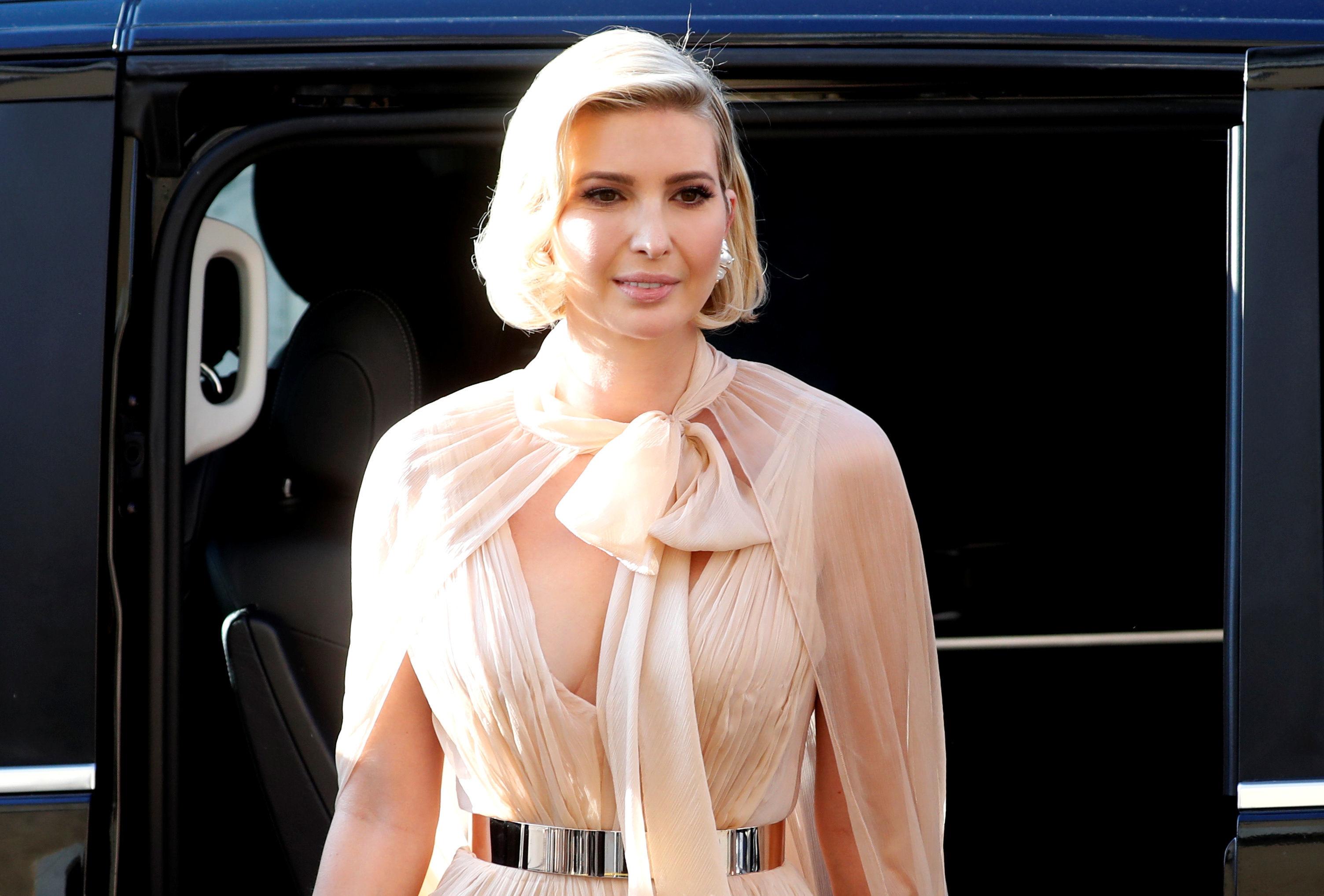 إيفانكا ترامب في حفل زفاف مصممة الأزياء الإيطالية ميشا نونو، 20 سبتمبر/أيلول 2019