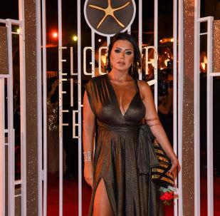 الممثلة المصرية رانيا يوسف في حفل افتتاح مهرجان الجونة السينمائي الثالث، 19 سبتمبر/أيلول 2019