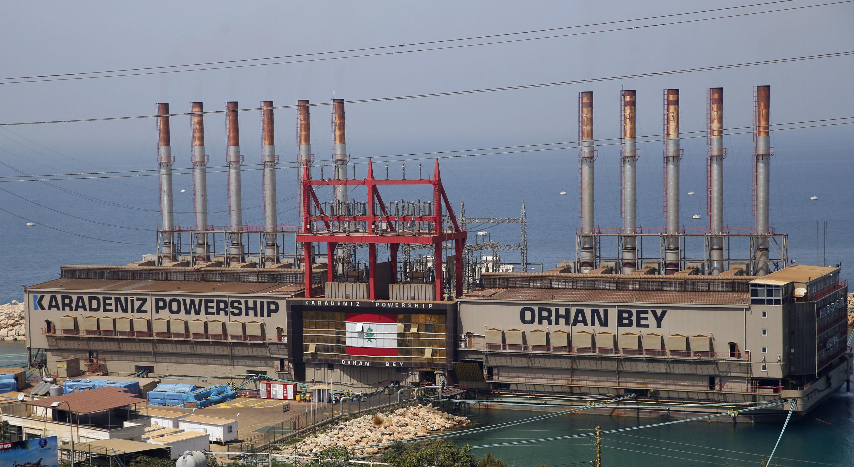 باخرة تركية لتوليد الطاقة في لبنان