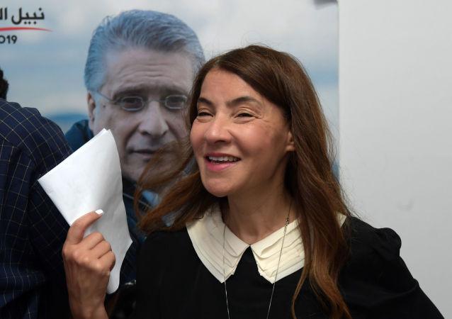 سلوى السماوي، زوجة المرشح الرئاسي التونسي السجين، نبيل القروي