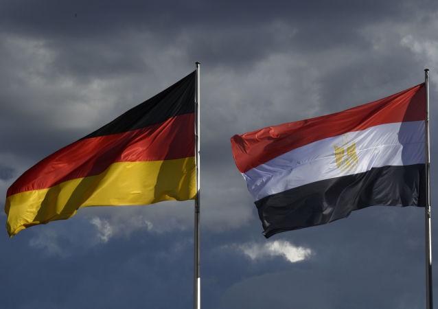 أعلام مصر و ألمانيا