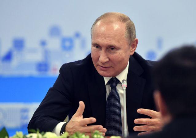 الرئيس الروسي فلاديمير بوتين في نيجني نوفغورود