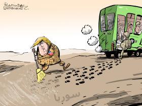 أمريكا تخفي آثارها بعد الانسحاب من سوريا