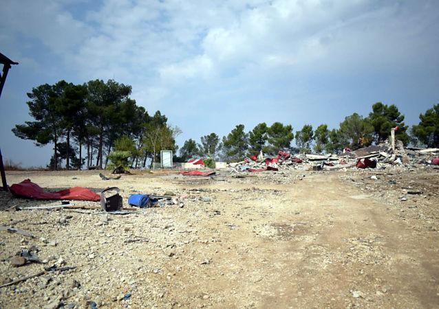 قاعدة قصر يلدا التي كانت قوات الاحتلال الأمريكية قد اتخذتها قاعدة لها في شمال شرق سوريا