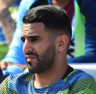 الجزائري رياض محرز لاعب مانشستر سيتي الإنجليزي