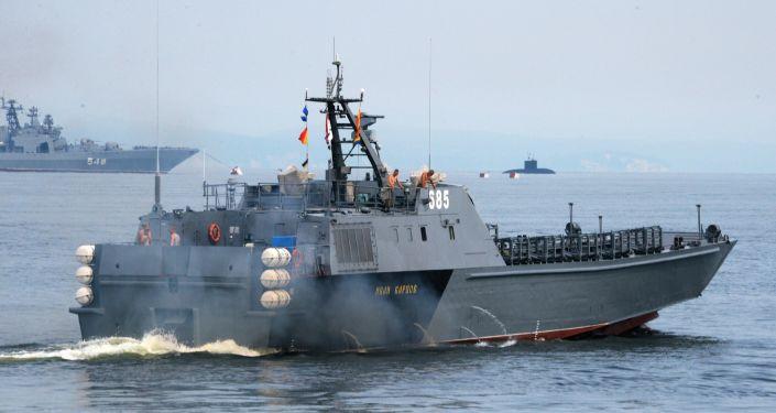 """""""أرميا 2020"""": الأسطول الروسي في المحيط الهادئ يعرض بوارجه الحربية"""