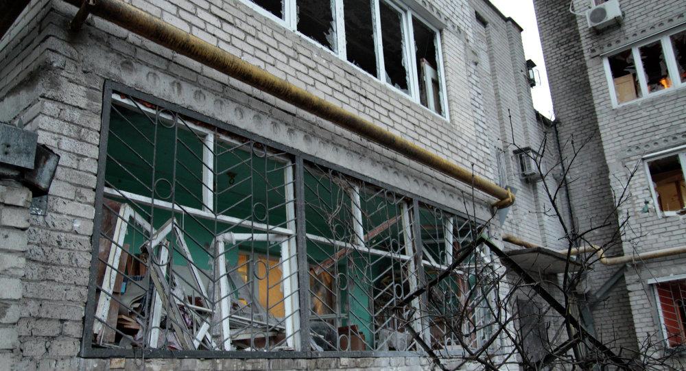 نتائج قصف في أوكرانيا