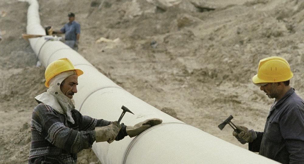 إنشاء خط أنابيب الغاز