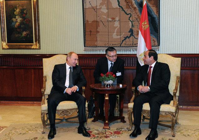 لقاء بوتين والسيسي في مصر