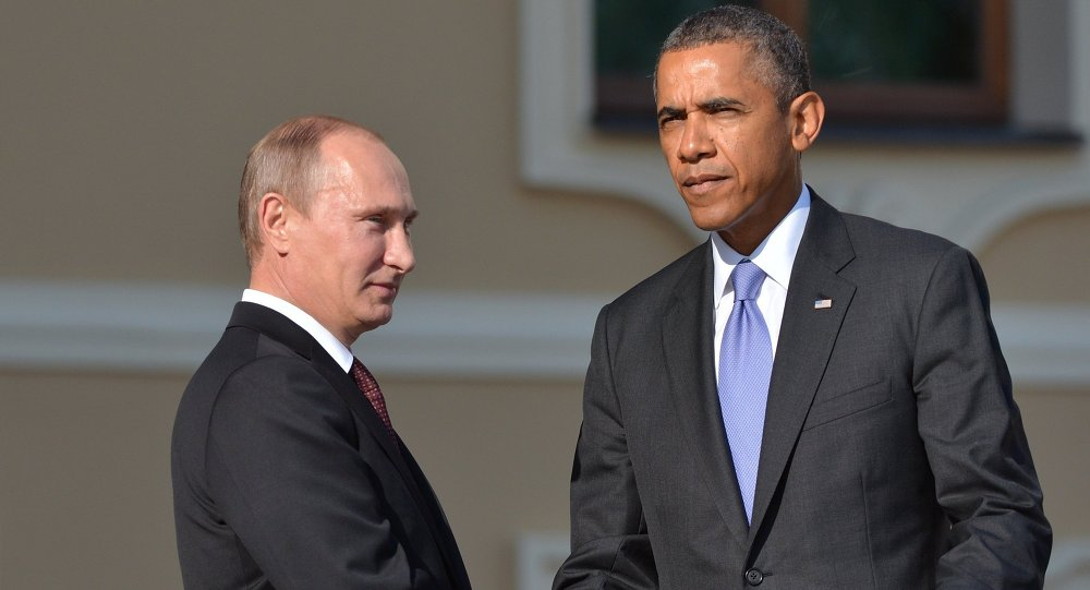 الرئيس الروسي فلاديمير بوتين يلتقي الرئيس الأمريكي باراك أوباما خلال قمة العشرين
