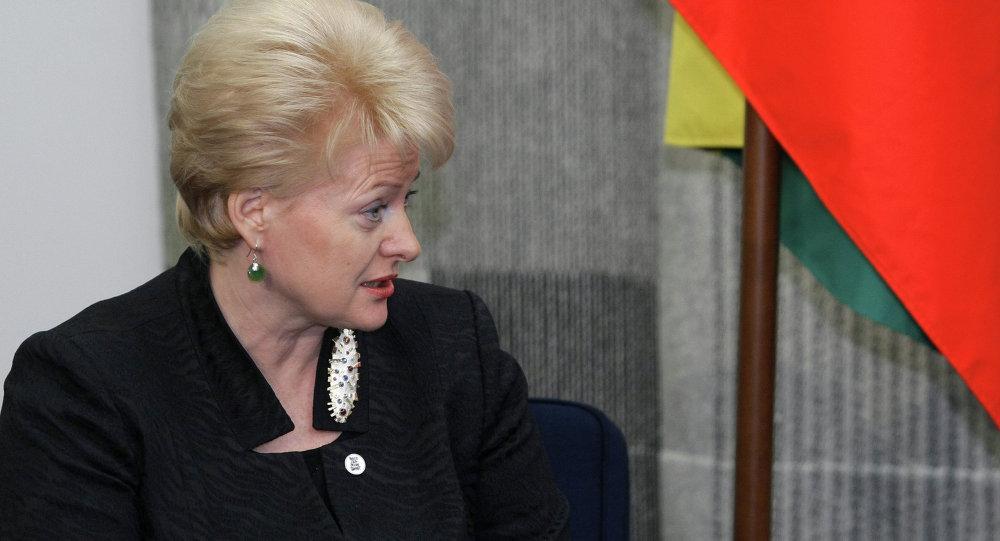 الرئيسة الليتوانية داليا  غريباوسكايتي