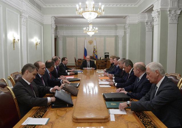 اجتماع مجلس الأمن الروسي 16/1/2015