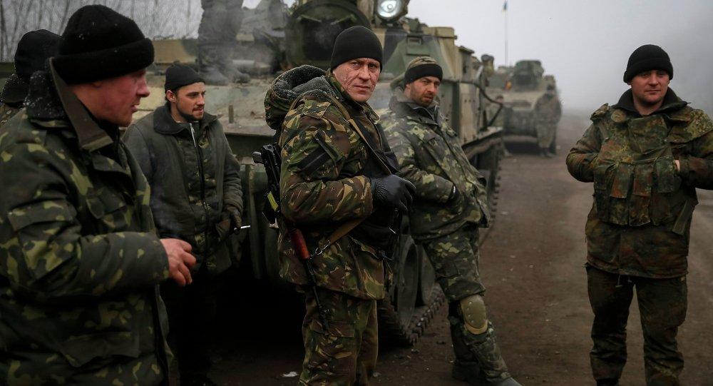 جنود أوكرانيون