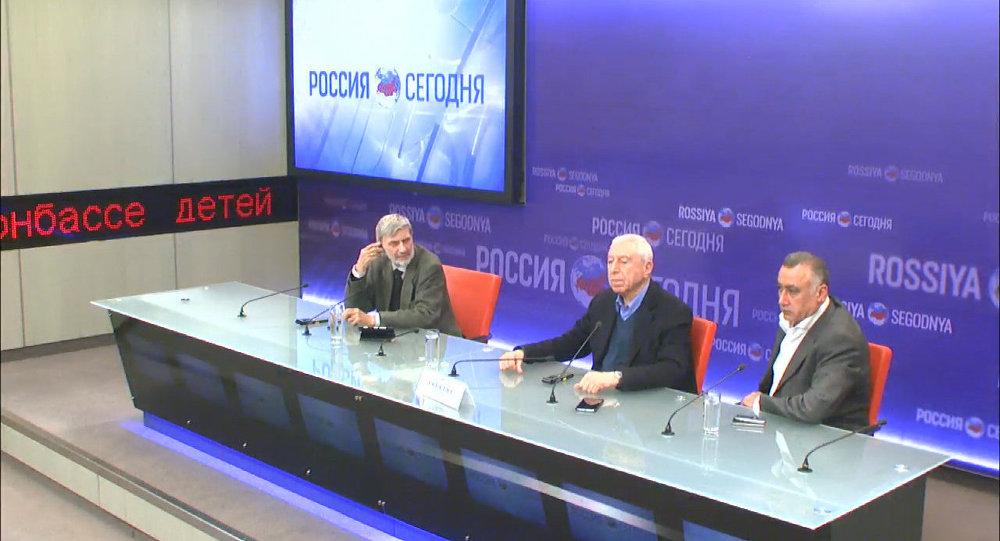 مؤتمر صحفي يعقده نايف حواتمة