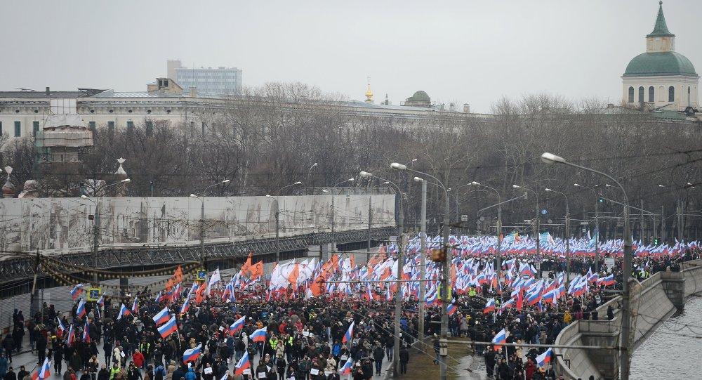 مسيرة في موسكو