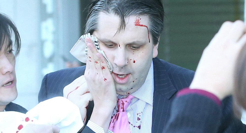 إصابة السفير الأمريكي لدى كوريا الجنوبية بجروح