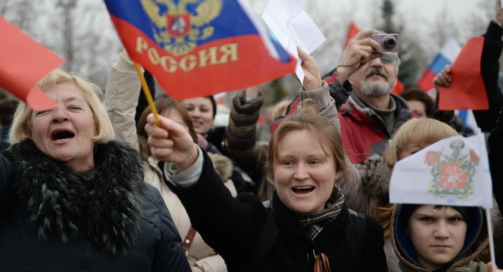 تظاهرة مؤيدة لانضمام القرم إلى روسيا