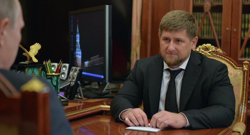 اجتماع العمل بين فلاديمير بوتين رئيس روسيا ورمضان قادروف رئيس الشيشان