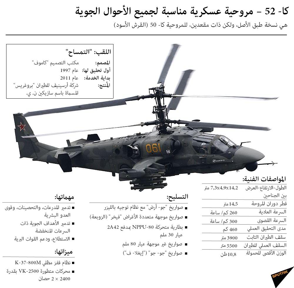 كا- 52 – مروحية عسكرية مناسبة لجميع الأحوال الجوية