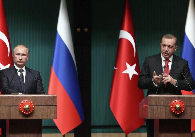 بوتين مع أردوغان