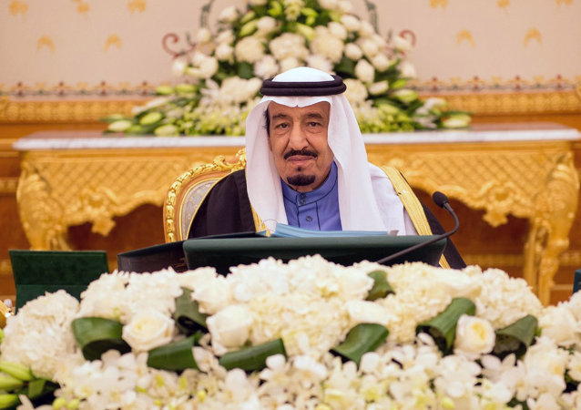 A handout picture released by the Saudi Press Agency (SPA) on February 2, 2015 shows Saudi new King Salman bin Abdulaziz chairing the cabinet meeting in the capital, Riyadh