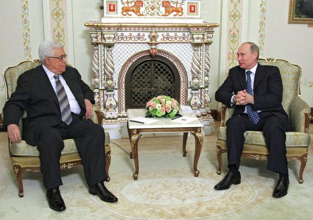 اللقاء بين بوتين ومحمود عباس