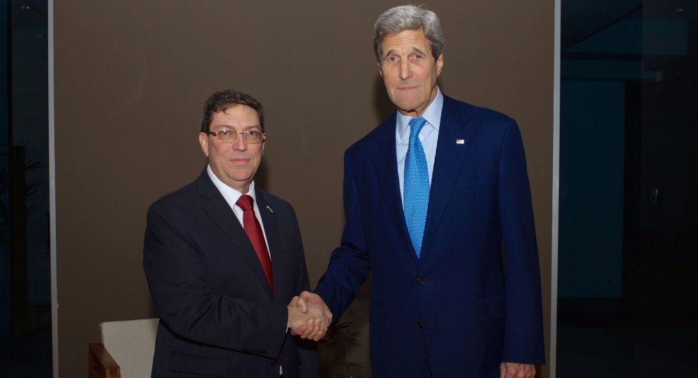 اللقاء بين وزيري الخارجية الأمريكي والكو بي