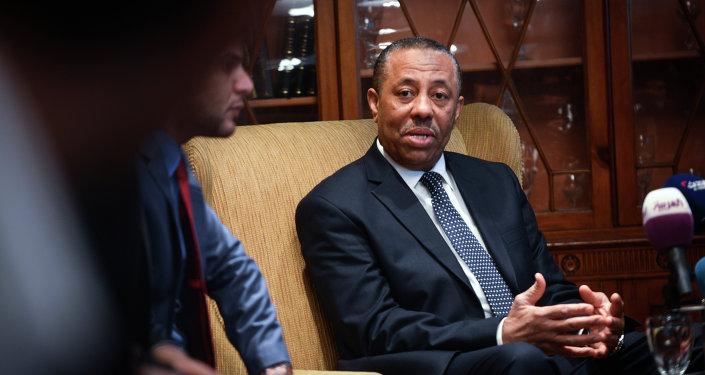 رئيس الوزراء الليبي عبد ألله الثني