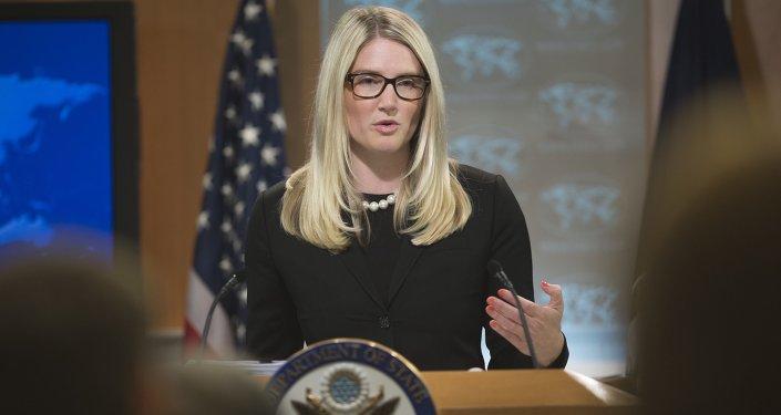 الناطقة باسم الخارجية الأميركية ماري هارف
