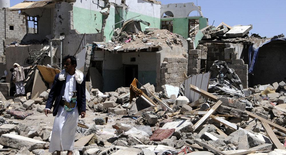 نتائج قصف اليمن