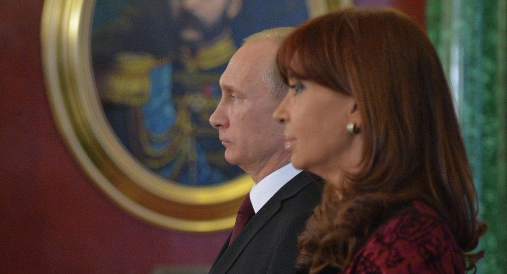 لقاء بوتين وكيرشنر