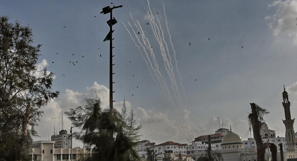 إطلاق صواريخ من غزة باتجاه إسرائيل