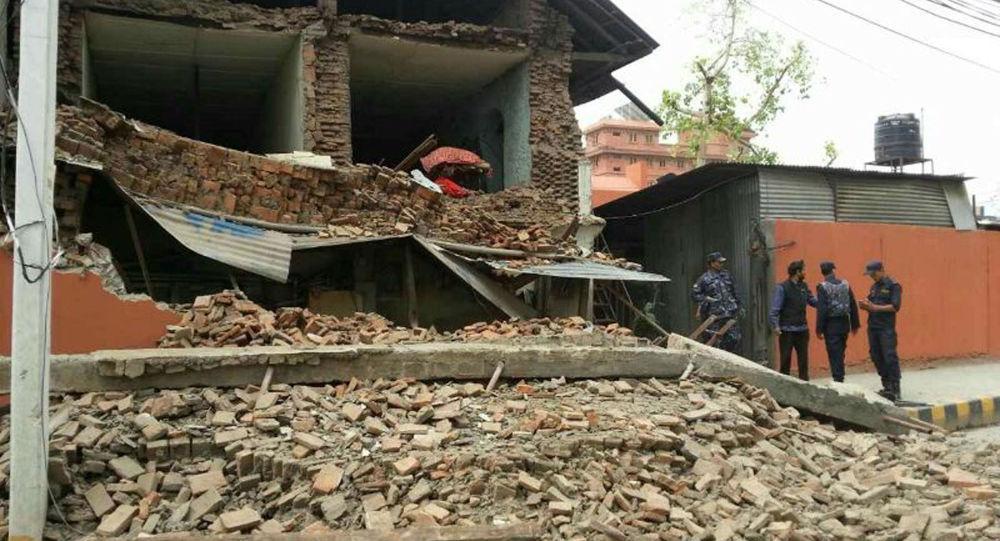 آثار الزلزال في نيبال