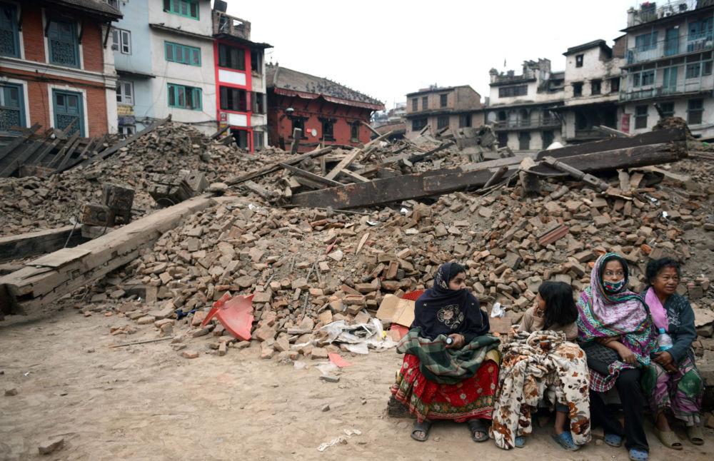 الدمار الناجم عن الزلزال الذي وقع في نيبال