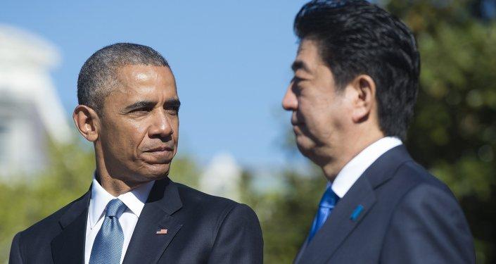 باراك أوباما وشينزو آبي