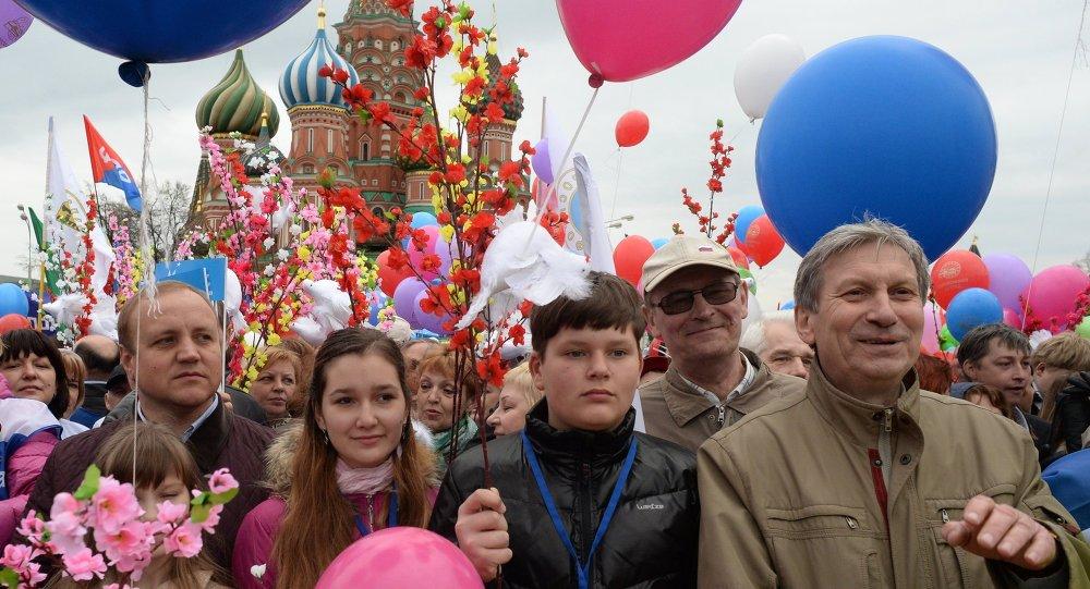 احتفالات الأول من مايو في موسكو