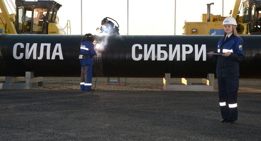 إنشاء خط طاقة سيبيريا لأنابيب الغاز