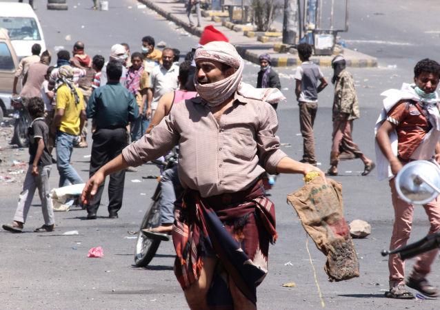 مظاهرات في مدينة تعز اليمنية