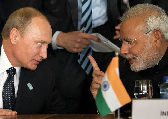 بوتين ومودي يبحثان توسيع التعاون الإستراتيجي