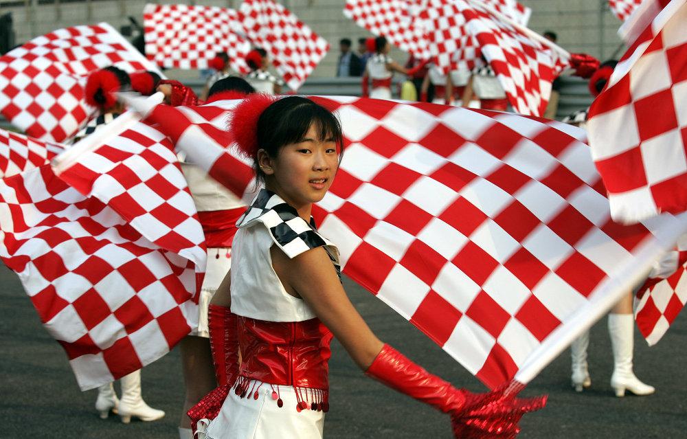 حلبة شنغهاى فى سباق الجائزة الكبري فورمولا 1