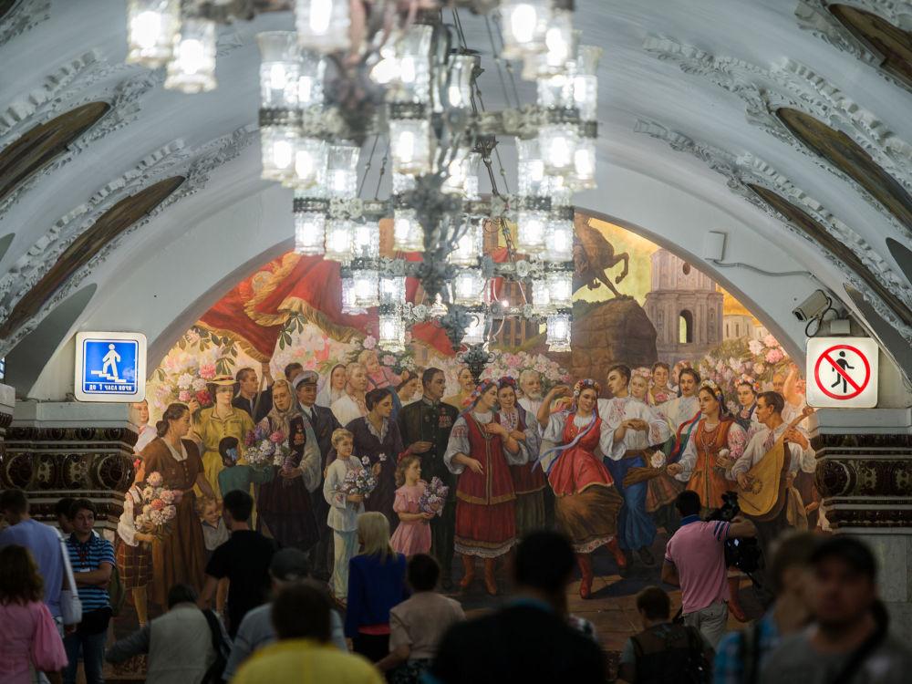 محطة كييفسكايا التي سُميت على إسم العاصمة الأوكرانية كييف